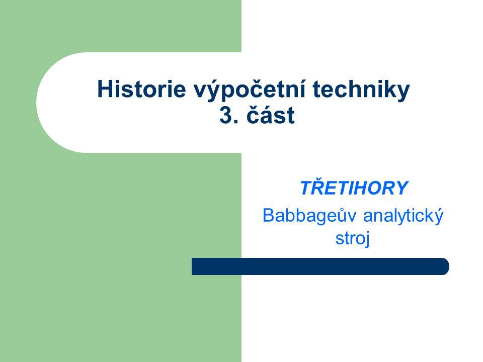 Historie výpočetní techniky 3. část