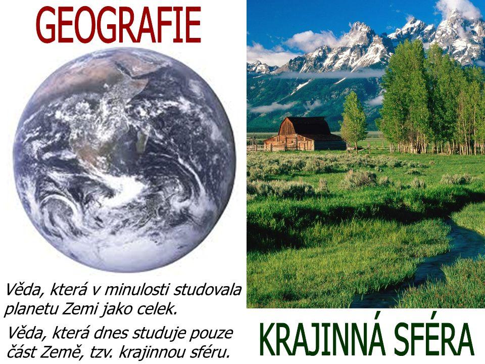 GEOGRAFIE KRAJINNÁ SFÉRA