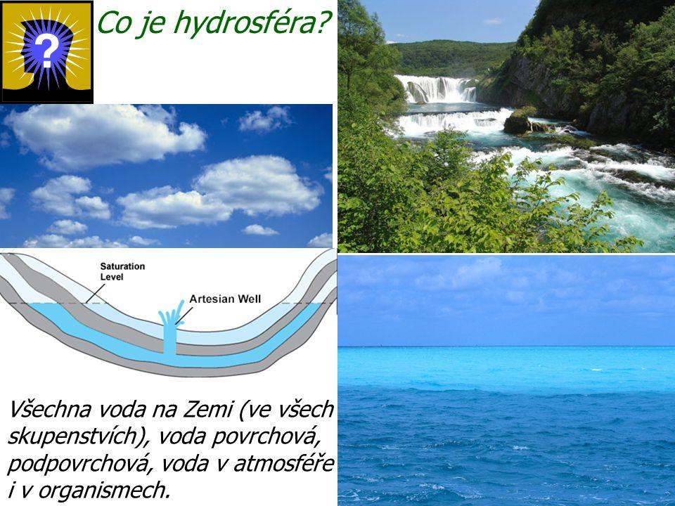 Co je hydrosféra.
