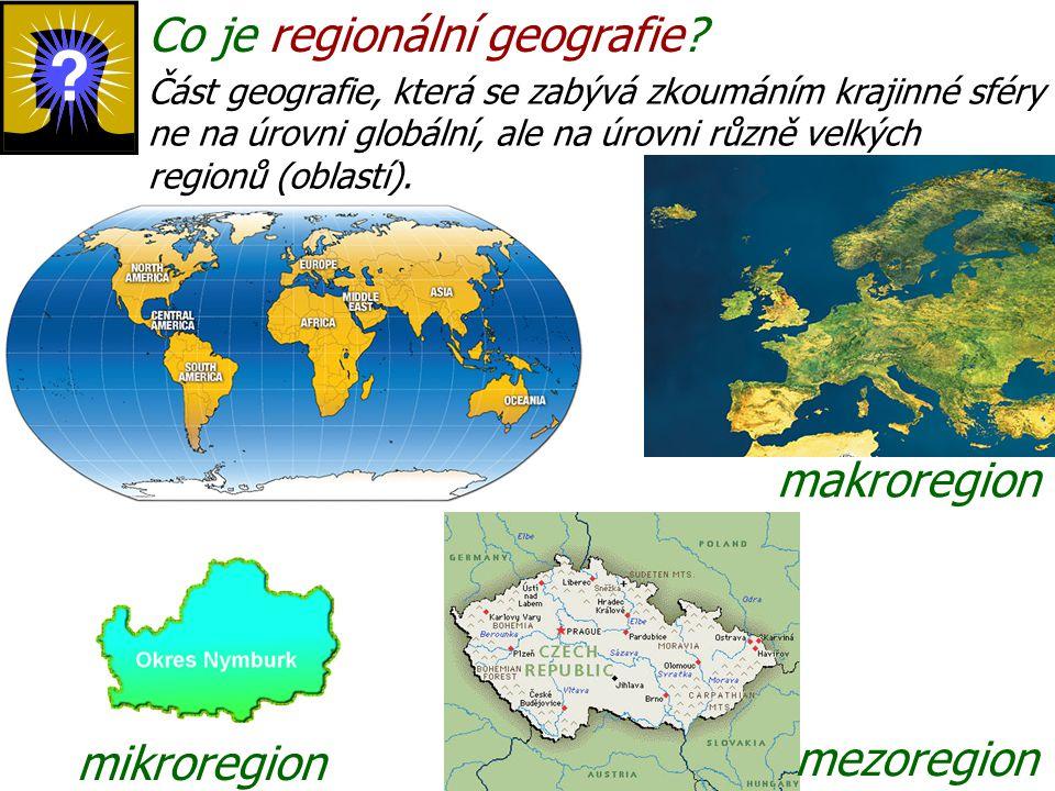 Co je regionální geografie