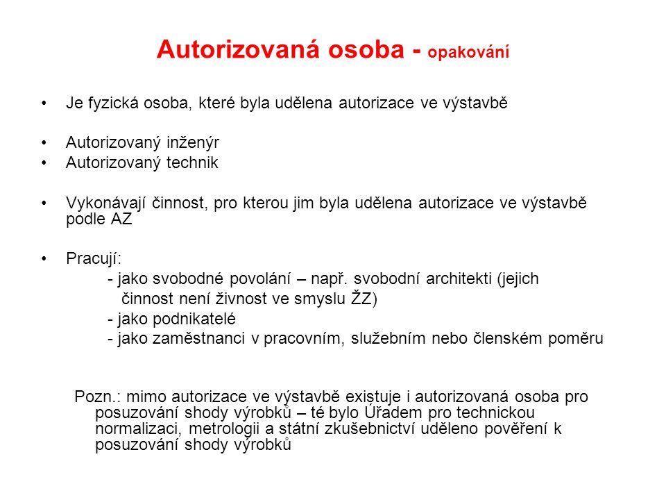 Autorizovaná osoba - opakování
