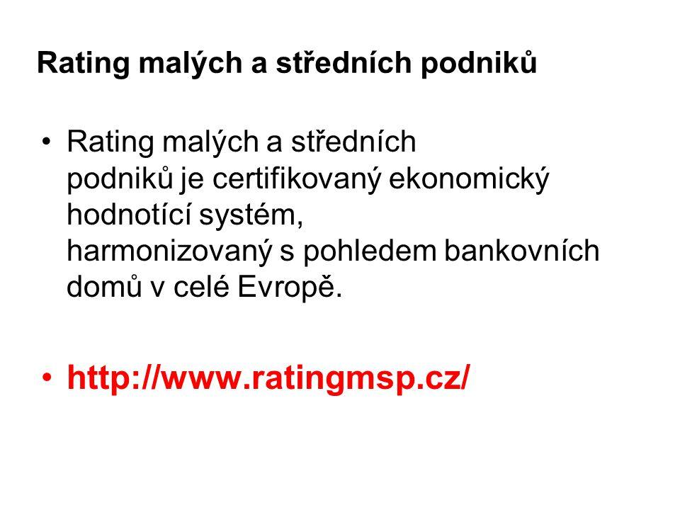 Rating malých a středních podniků