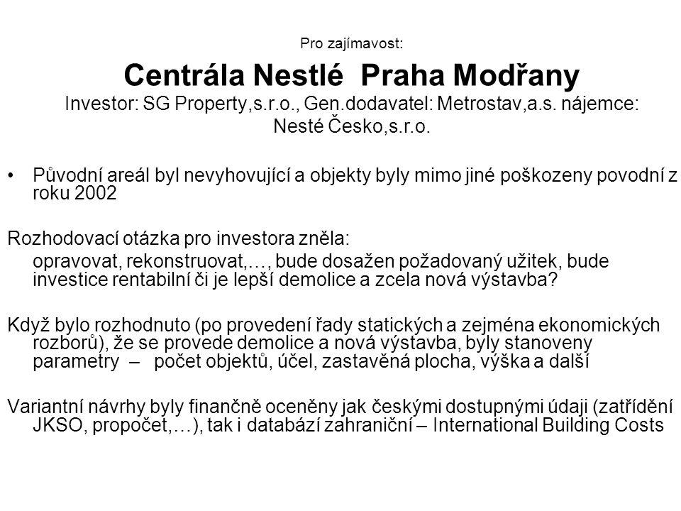 Rozhodovací otázka pro investora zněla: