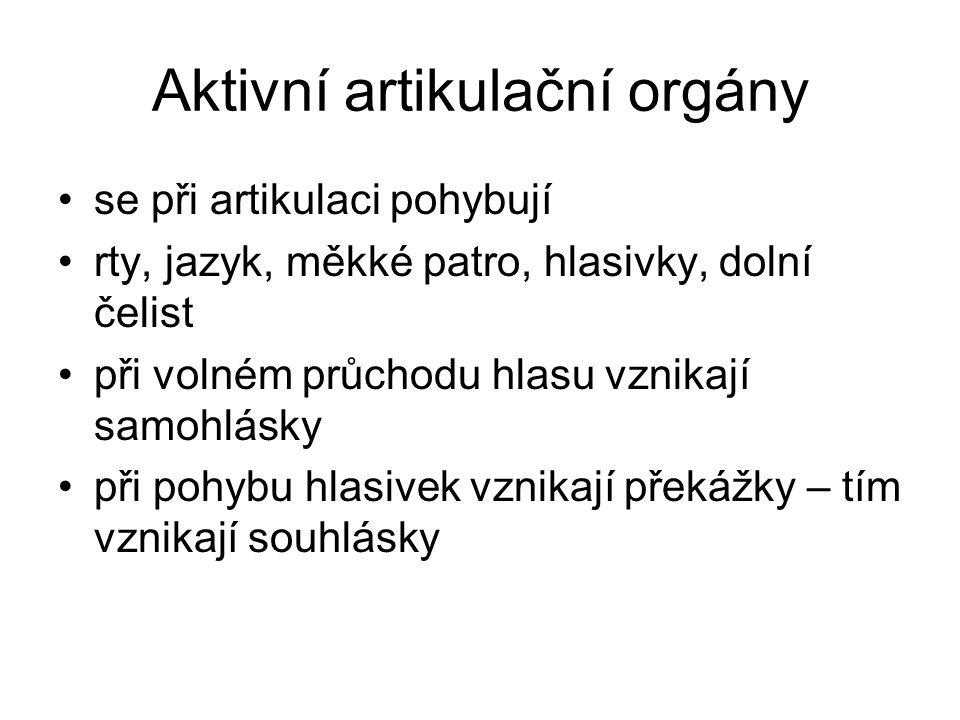 Aktivní artikulační orgány