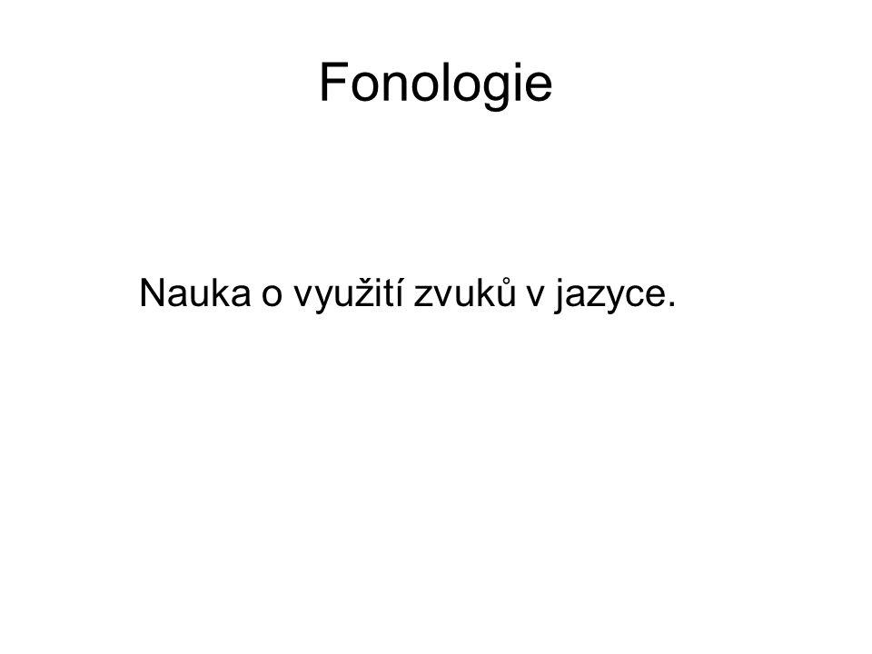 Fonologie Nauka o využití zvuků v jazyce.