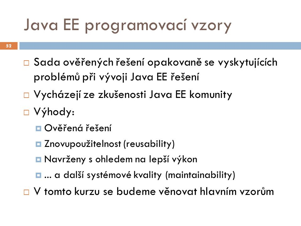 Java EE programovací vzory