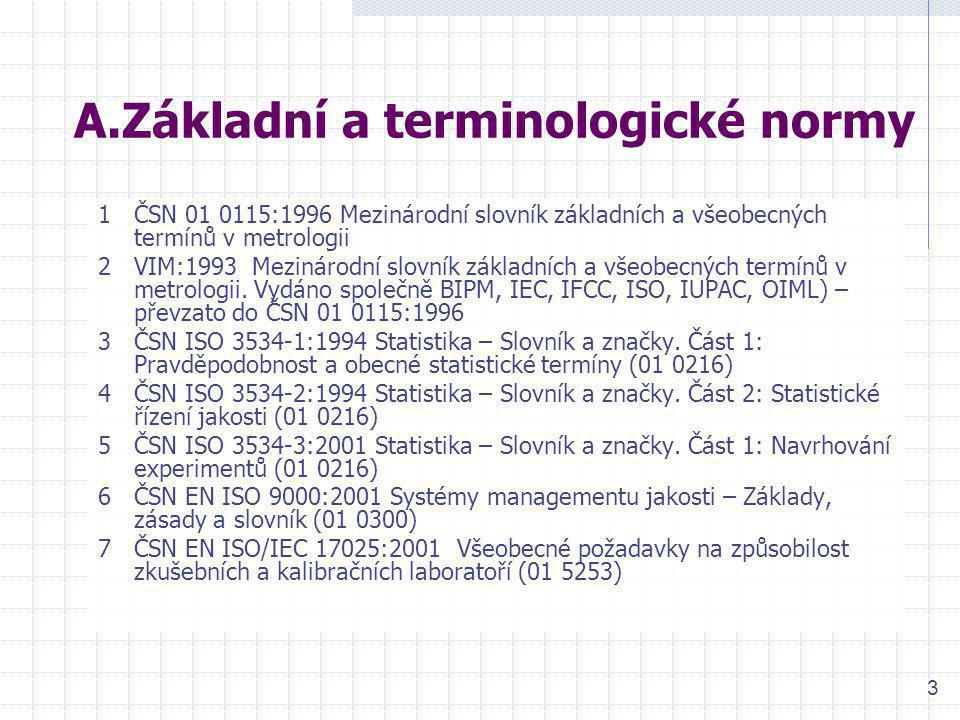 A.Základní a terminologické normy