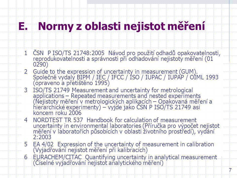 Normy z oblasti nejistot měření