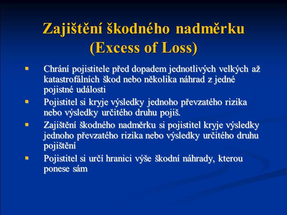 Zajištění škodného nadměrku (Excess of Loss)