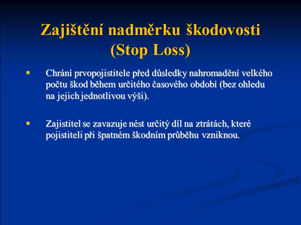 Zajištění nadměrku škodovosti (Stop Loss)