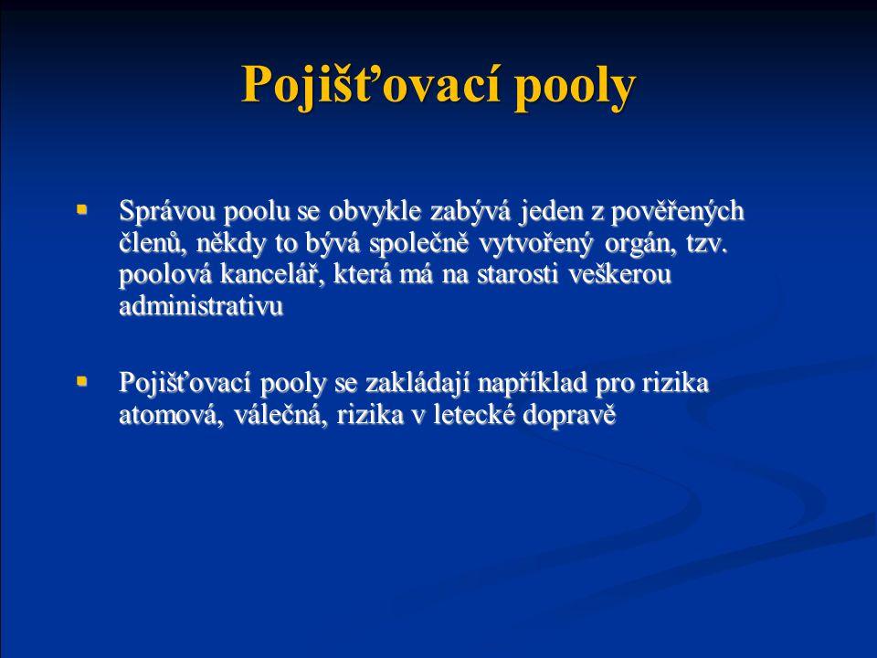 Pojišťovací pooly