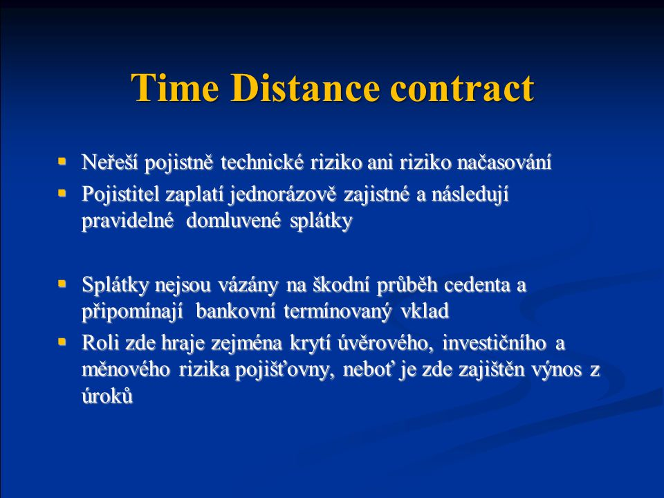 Time Distance contract