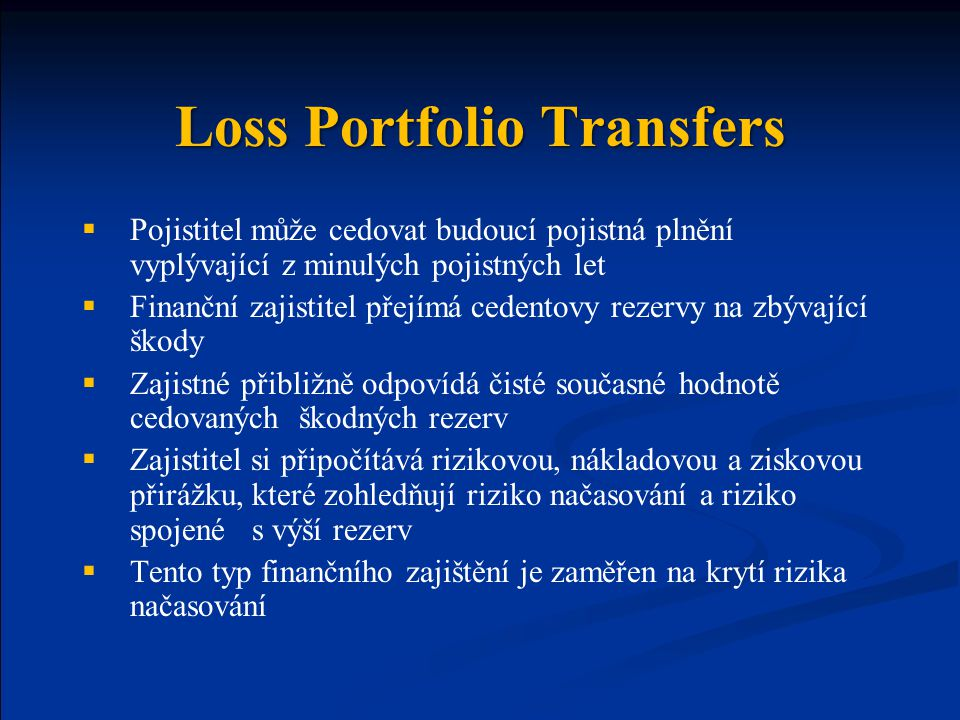 Loss Portfolio Transfers