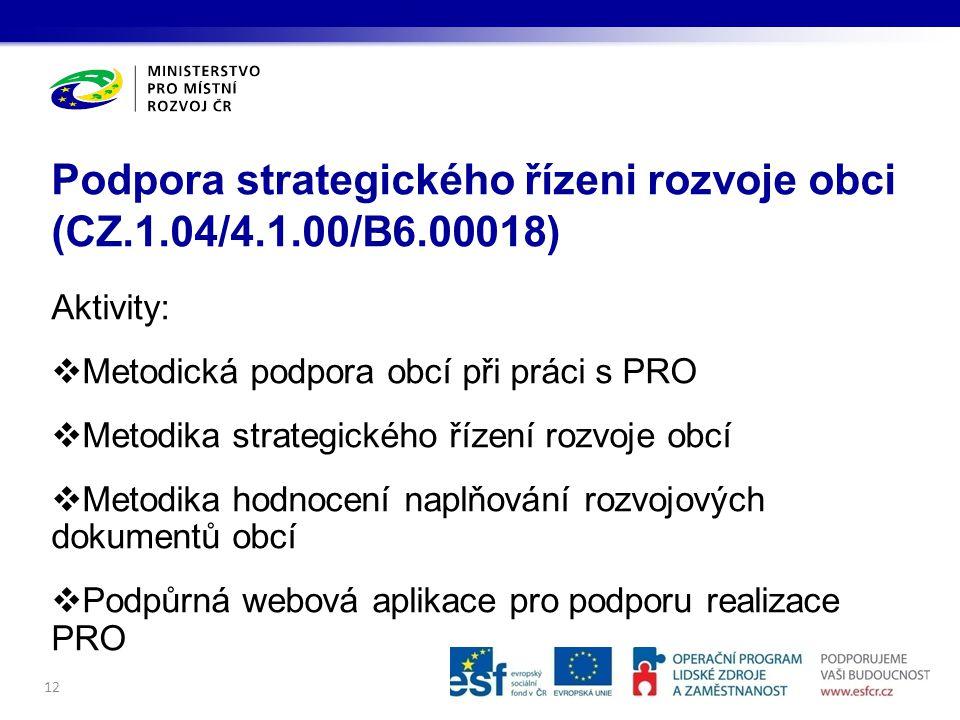Podpora strategického řízeni rozvoje obci (CZ.1.04/4.1.00/B6.00018)