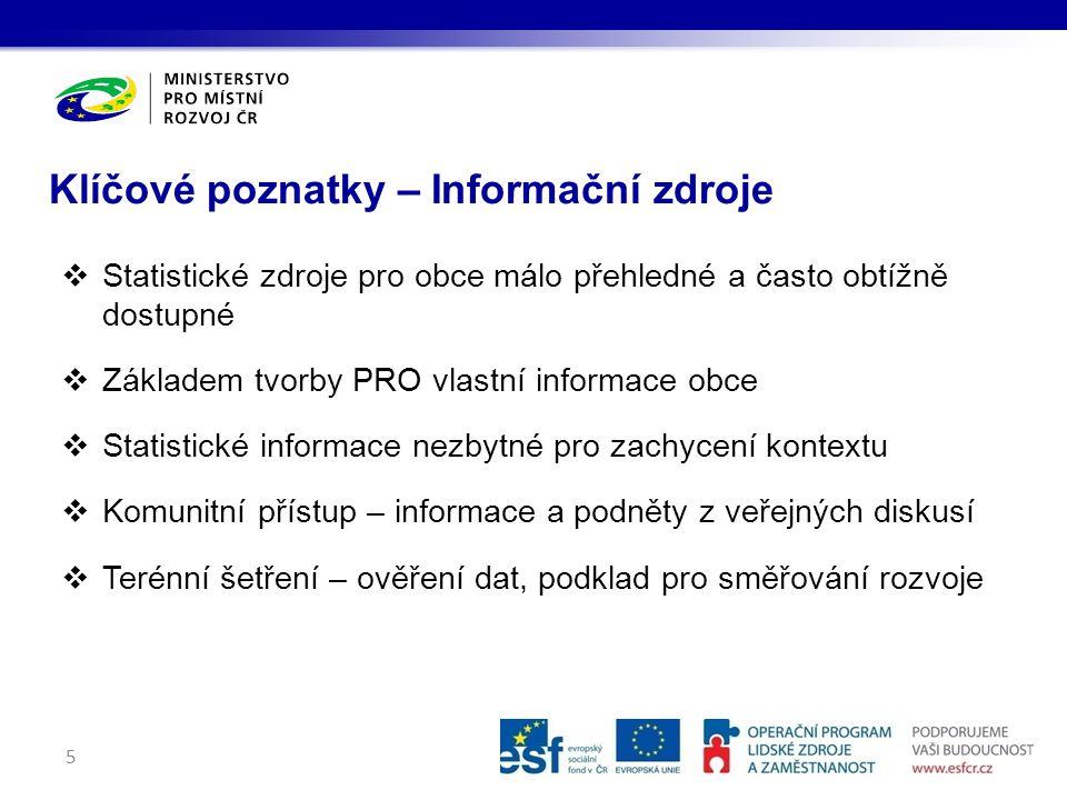 Klíčové poznatky – Informační zdroje