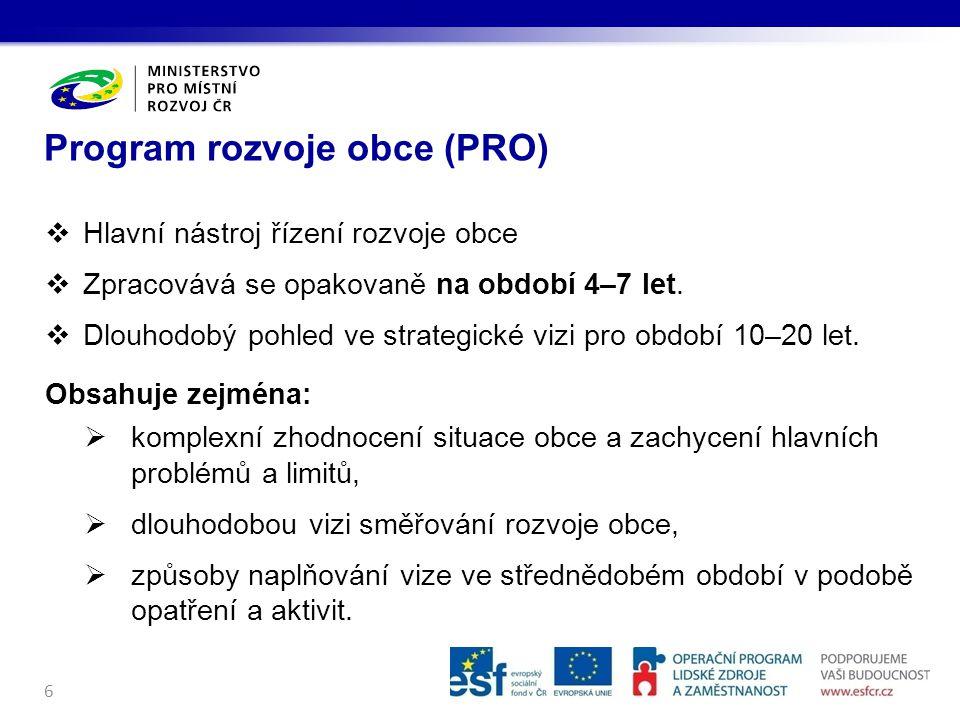 Program rozvoje obce (PRO)