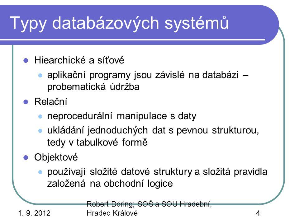 Typy databázových systémů