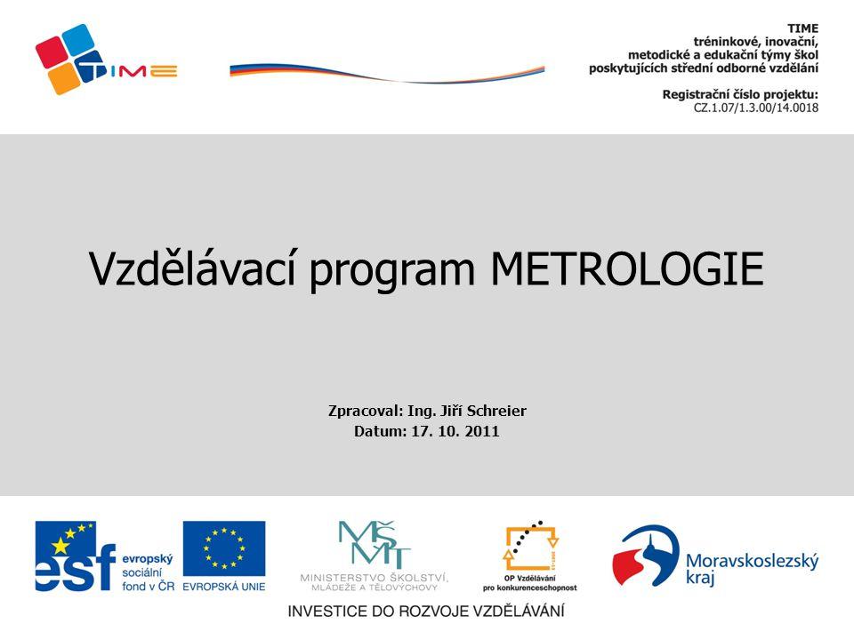 Vzdělávací program METROLOGIE