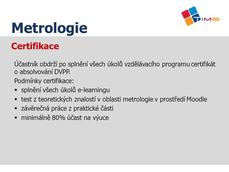Název prezentace Metrologie Certifikace
