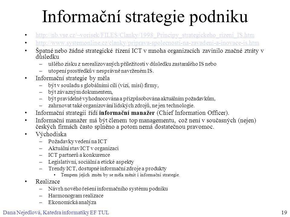 Informační strategie podniku