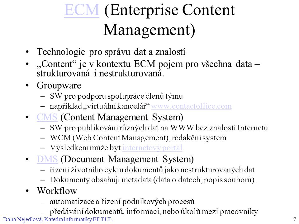ECM (Enterprise Content Management)