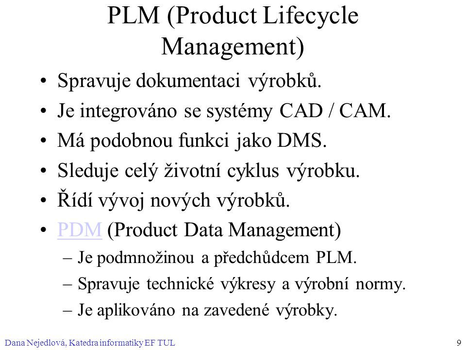 PLM (Product Lifecycle Management)