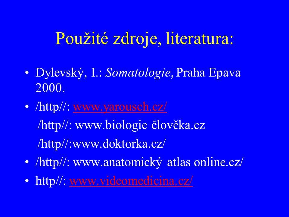 Použité zdroje, literatura:
