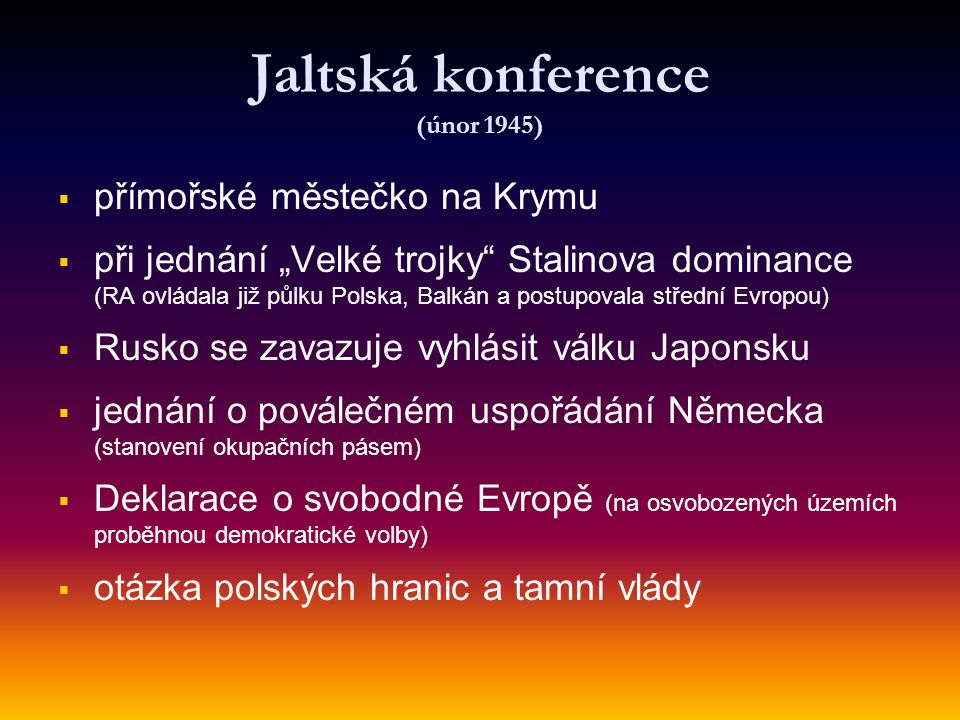 Jaltská konference (únor 1945)