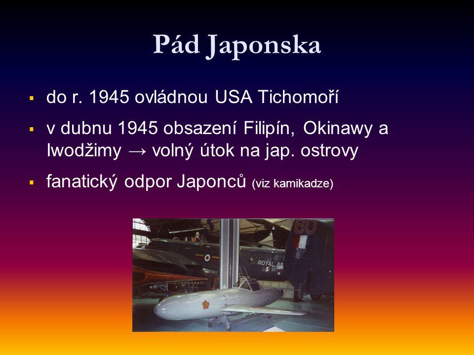 Pád Japonska do r. 1945 ovládnou USA Tichomoří
