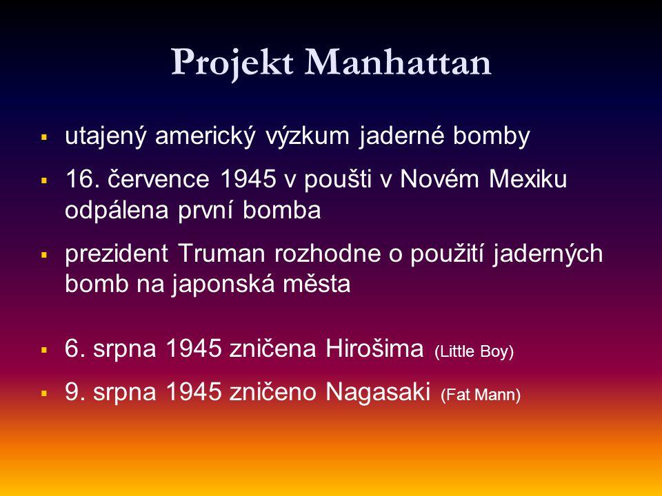 Projekt Manhattan utajený americký výzkum jaderné bomby