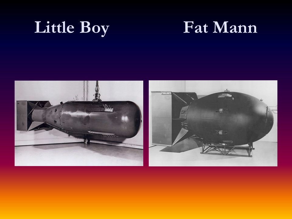Little Boy Fat Mann