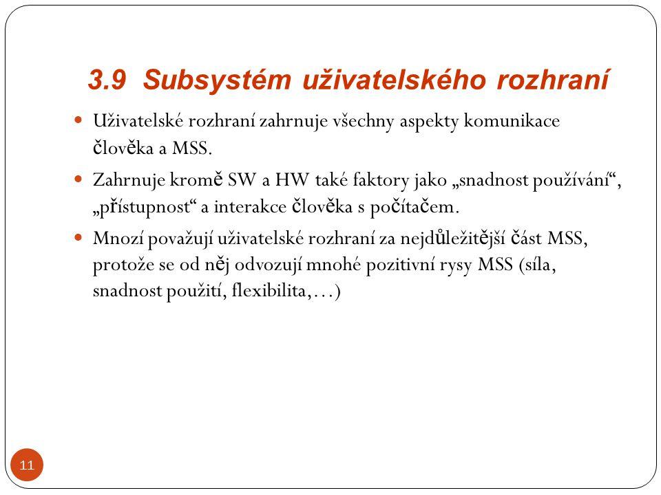 3.9 Subsystém uživatelského rozhraní