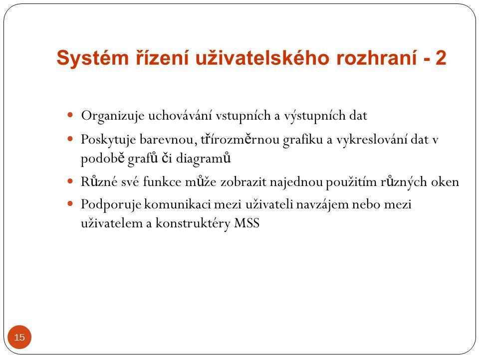 Systém řízení uživatelského rozhraní - 2