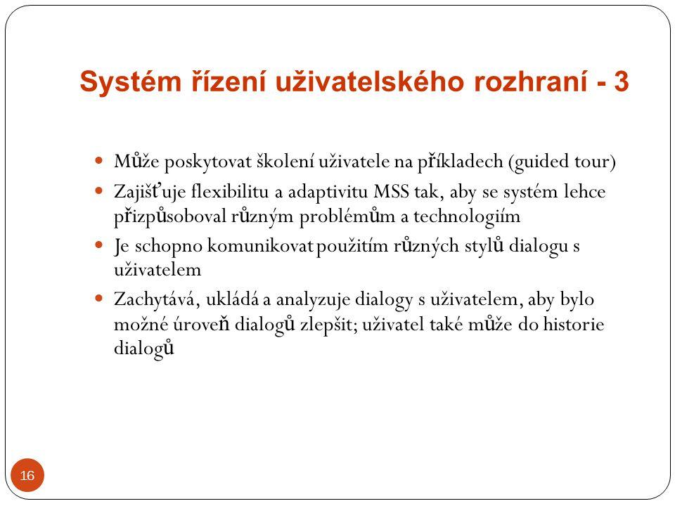 Systém řízení uživatelského rozhraní - 3