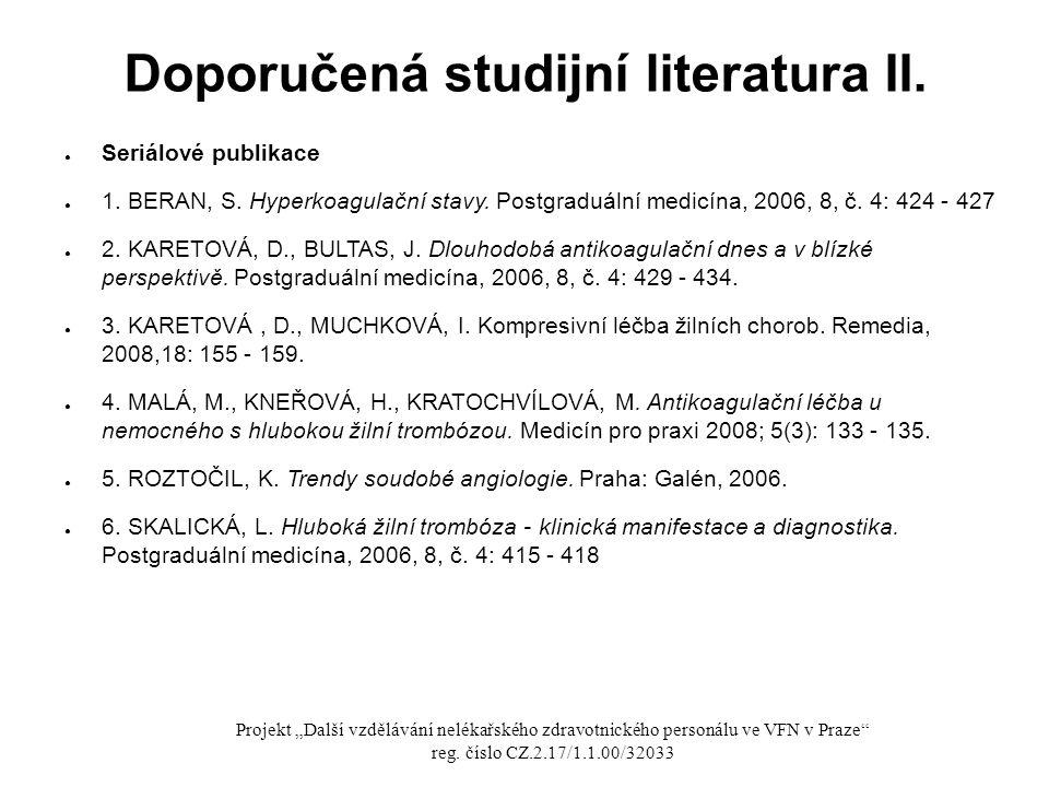 Doporučená studijní literatura II.