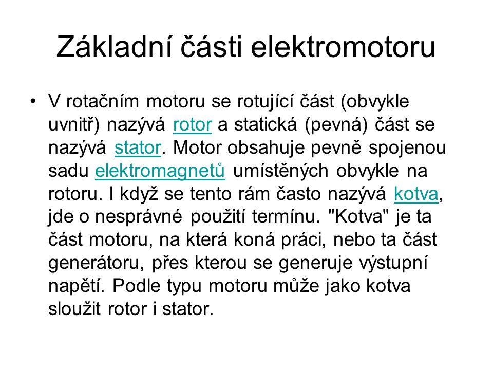 Základní části elektromotoru