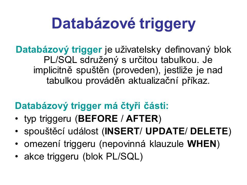 Databázové triggery