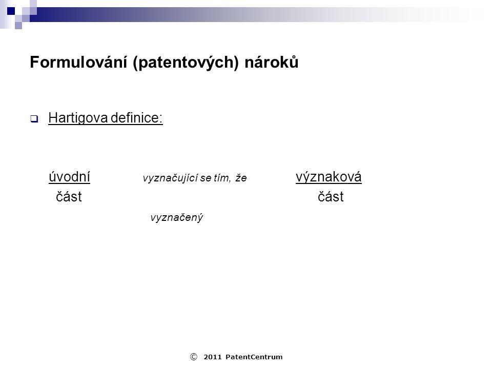 Formulování (patentových) nároků