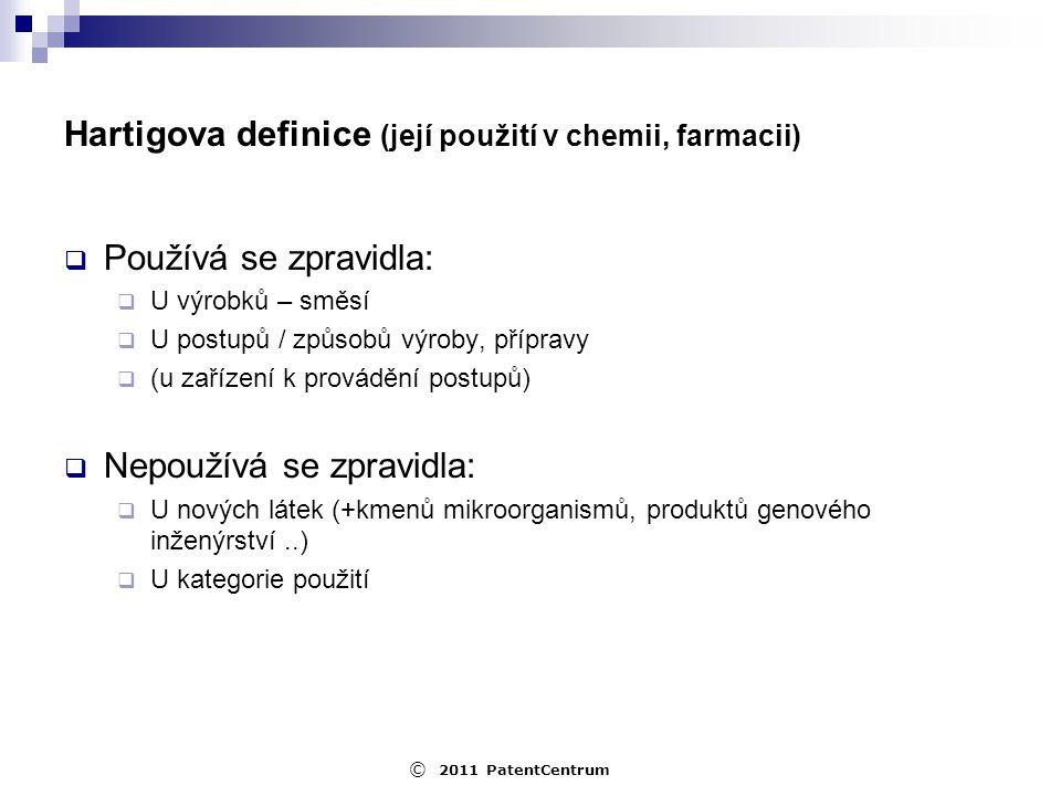 Hartigova definice (její použití v chemii, farmacii)