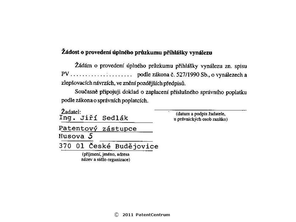 © 2011 PatentCentrum