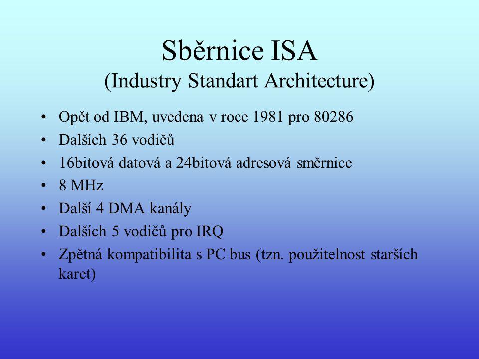 Sběrnice ISA (Industry Standart Architecture)