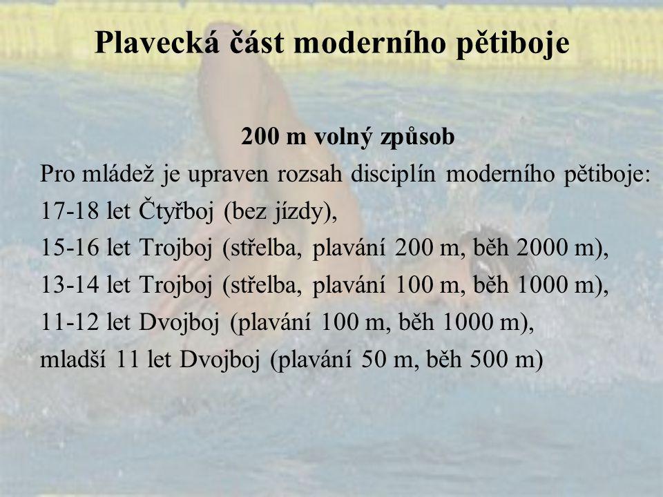 Plavecká část moderního pětiboje