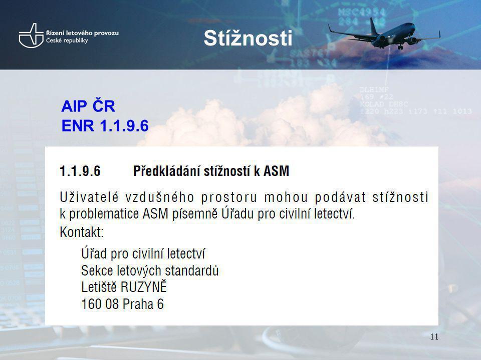 Stížnosti AIP ČR ENR 1.1.9.6