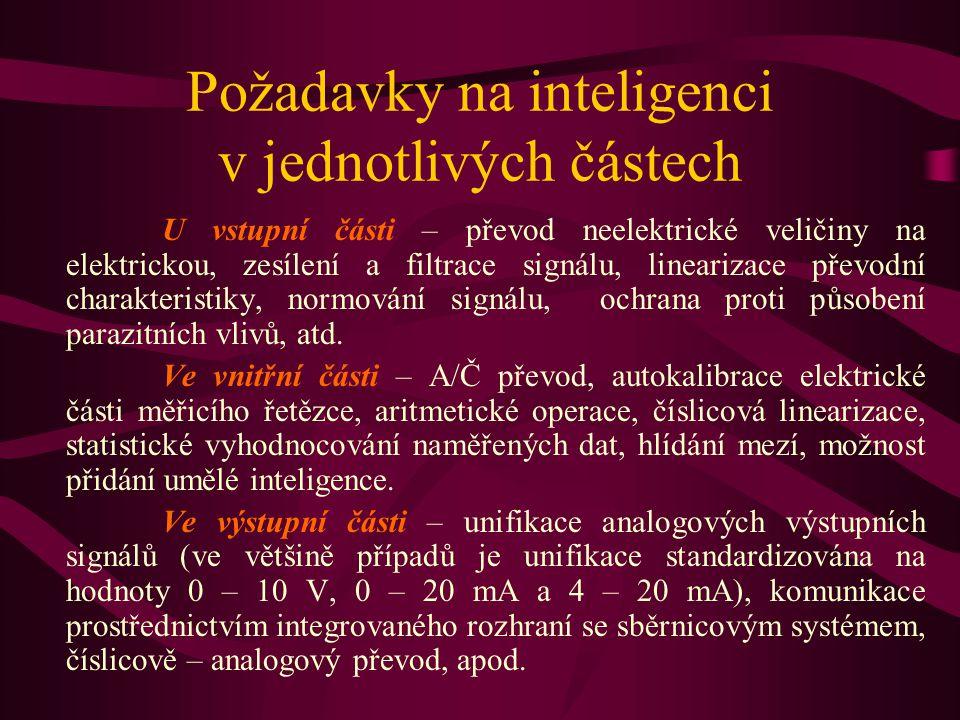 Požadavky na inteligenci v jednotlivých částech