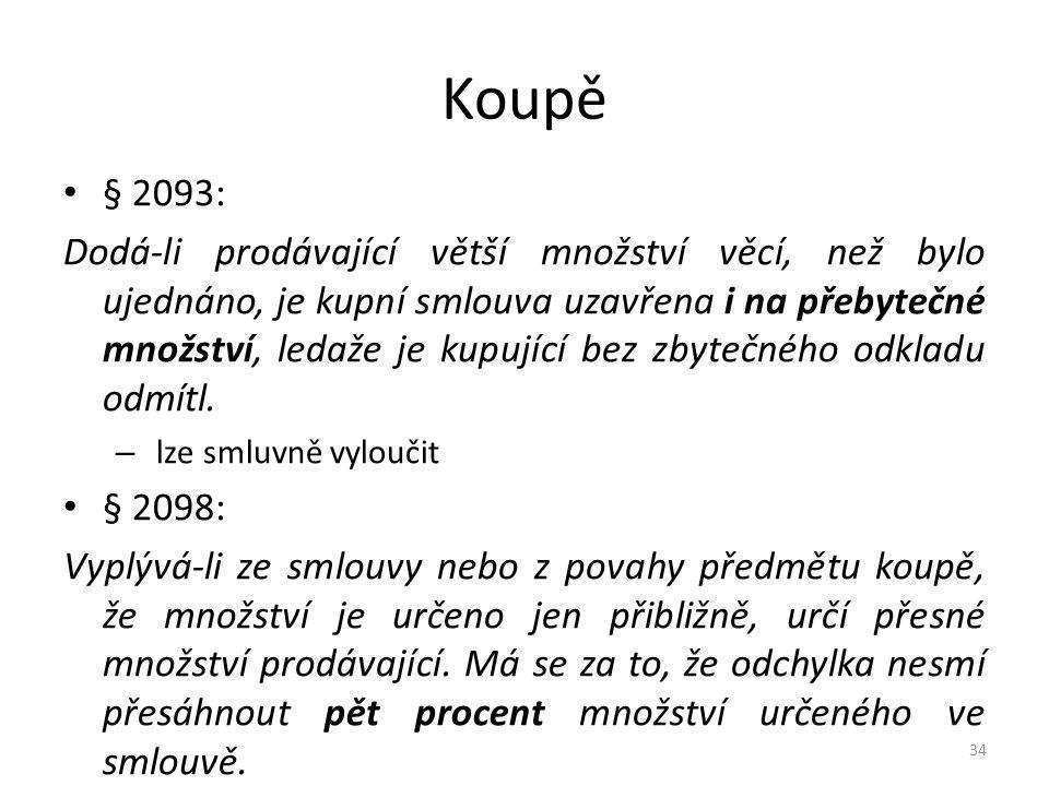 Koupě § 2093: