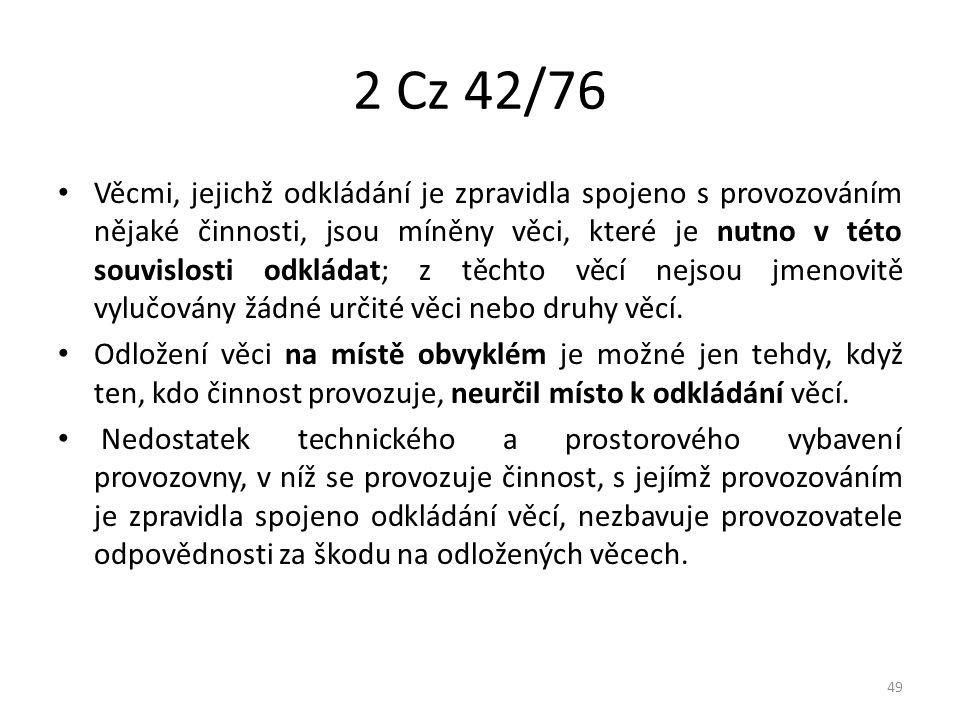 2 Cz 42/76