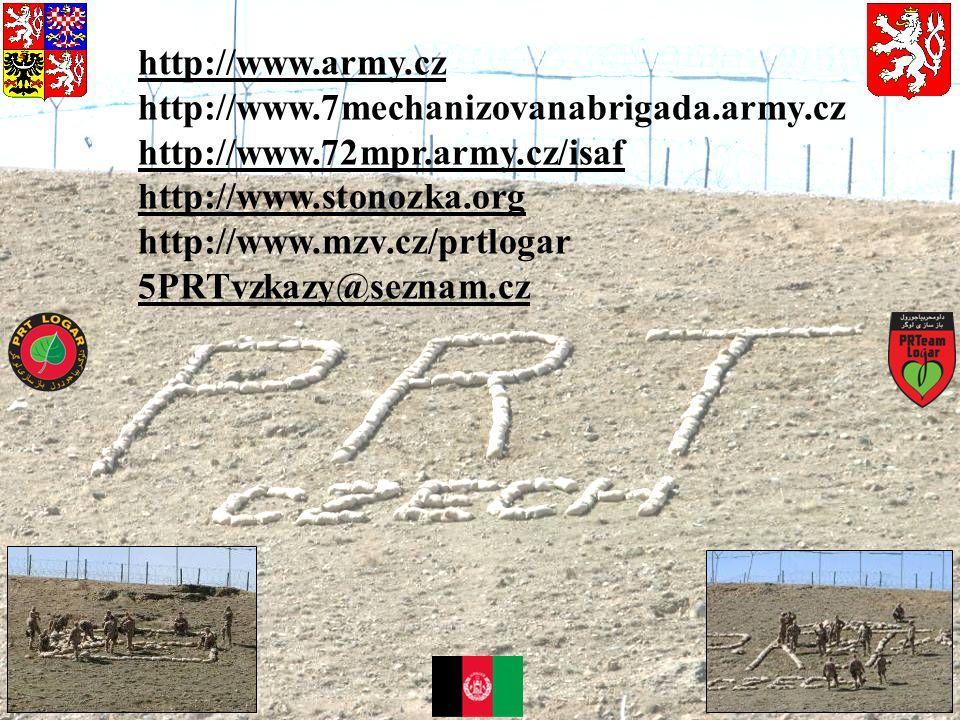 http://www.army.cz http://www.7mechanizovanabrigada.army.cz. http://www.72mpr.army.cz/isaf. http://www.stonozka.org.