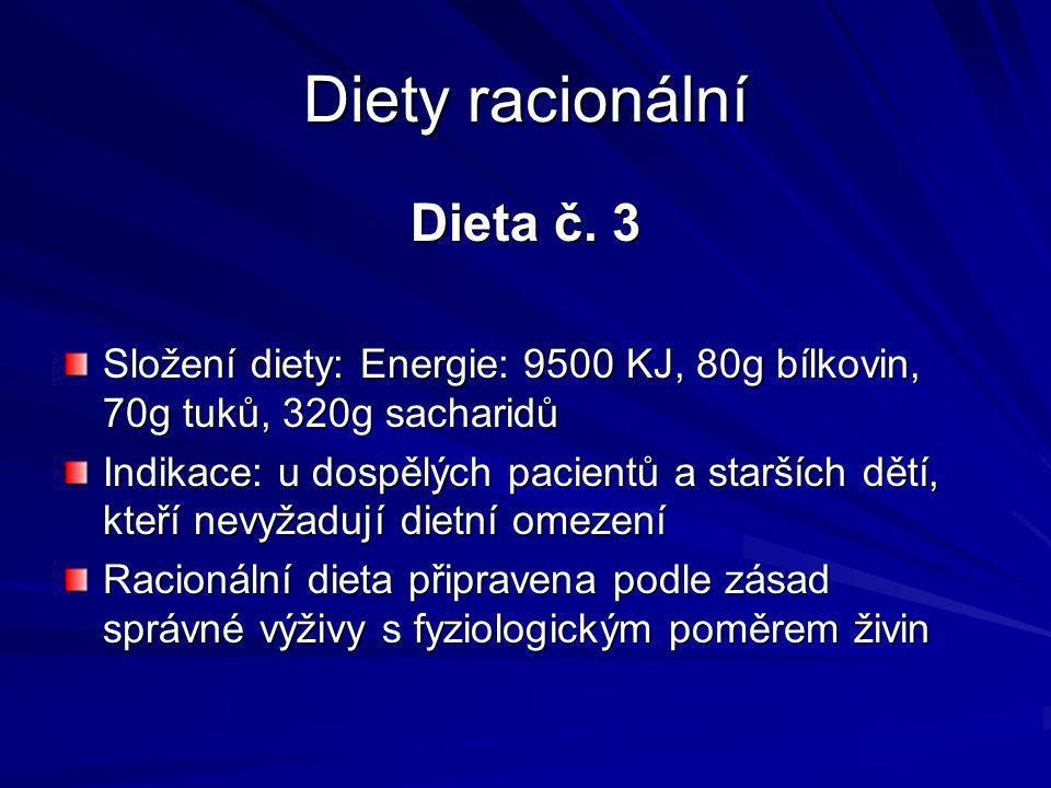 Diety racionální Dieta č. 3