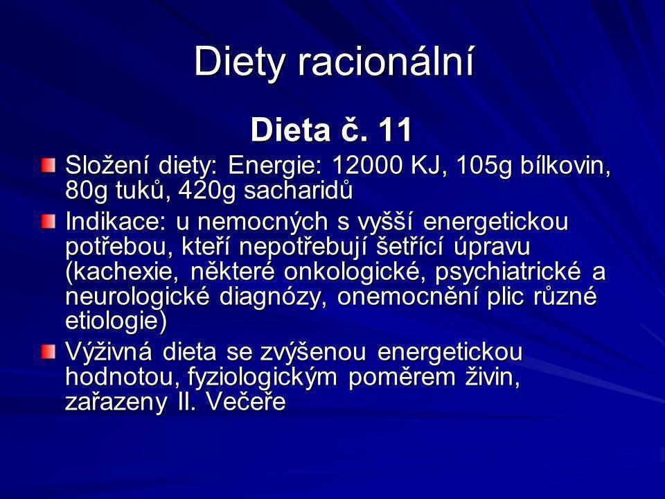 Diety racionální Dieta č. 11