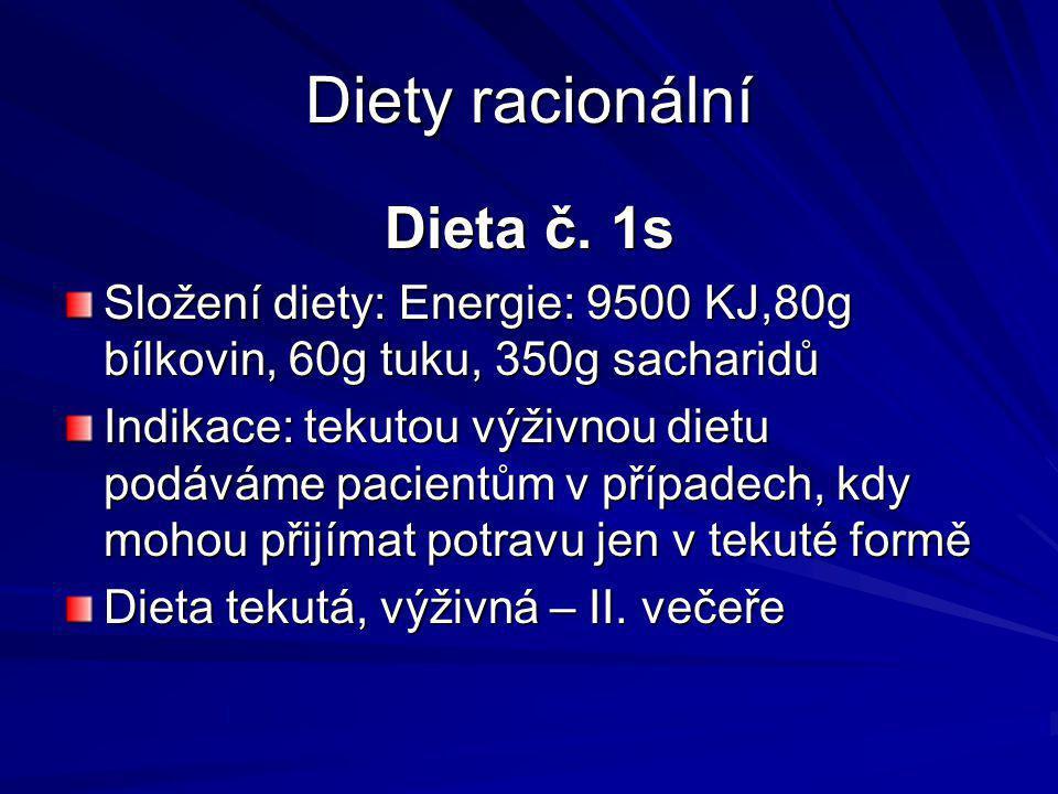 Diety racionální Dieta č. 1s